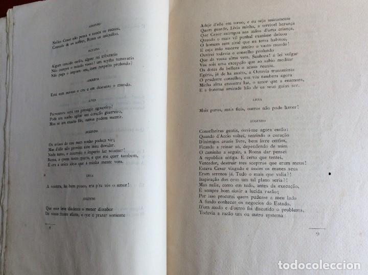 Libros antiguos: El sueño de Augusto, traducción del poema de Alfredo Musset, Por João Deville, 1910. Muy, mur raro. - Foto 6 - 194489796