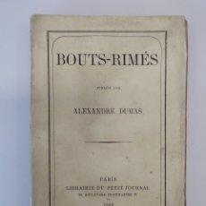 Libros antiguos: DUMAS, ALEXANDRE / BOUTS-RIMÉS - ED. LIBRAIRIE DU PETIT JOURNSL. PARÍS, 1865. Lote 194590785