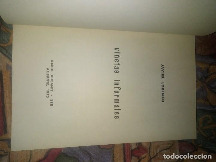 Libros antiguos: Viñetas informarles - Javier Lorenzo - edita radio Alicante SER Año 1975 - Foto 3 - 194605295