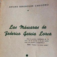 Libros antiguos: LAS MÁSCARAS DE FEDERICO GARCÍA LORCA 1941. Lote 194747917
