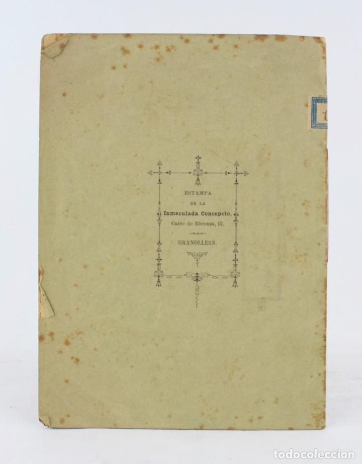 Libros antiguos: Dos poesías premiadas en los certamens de la Bisbal, 1888, Angel Garriga Boixader, Granollers. - Foto 3 - 194775812