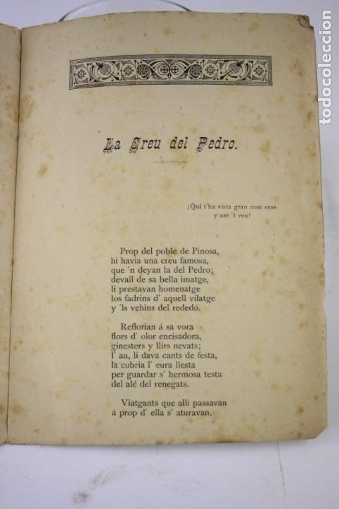 Libros antiguos: Dos poesías premiadas en los certamens de la Bisbal, 1888, Angel Garriga Boixader, Granollers. - Foto 4 - 194775812