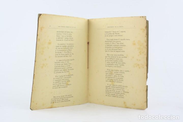 Libros antiguos: Dos poesías premiadas en los certamens de la Bisbal, 1888, Angel Garriga Boixader, Granollers. - Foto 5 - 194775812