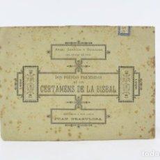 Libros antiguos: DOS POESÍAS PREMIADAS EN LOS CERTAMENS DE LA BISBAL, 1888, ANGEL GARRIGA BOIXADER, GRANOLLERS.. Lote 194775812