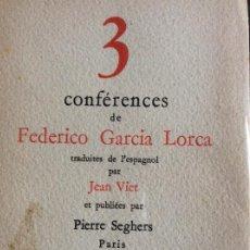 Libros antiguos: 3 CONFERENCES FEDERICO GARCÍA LORCA. Lote 194783963