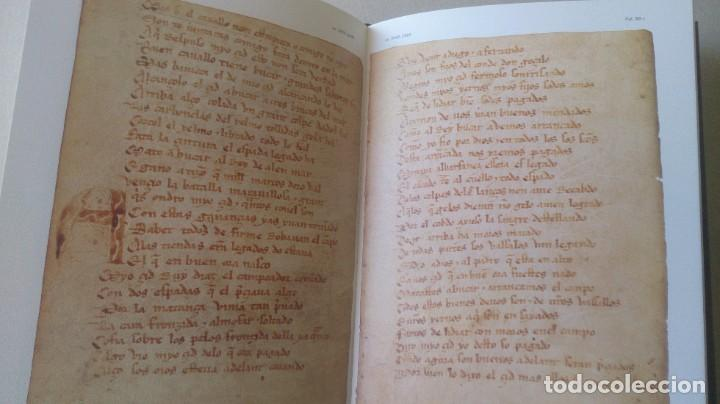 Libros antiguos: Poemas de mio cid 2 tomos ( facsímil) ayuntamiento de Burgos - Foto 7 - 194865905