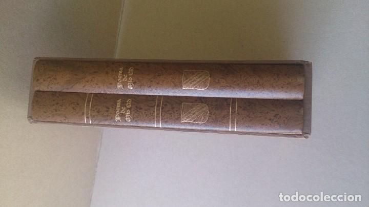 Libros antiguos: Poemas de mio cid 2 tomos ( facsímil) ayuntamiento de Burgos - Foto 12 - 194865905