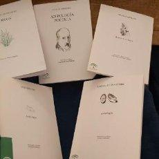 Libros antiguos: LOTE 5 LIBROS COLECCIÓN JUNTA ANDALUCÍA ANTOLOGÍAS GONGORA CERNUDA ALTOLAGUIIRE ZAMBRANO MUÑOZ ROJAS. Lote 194888847