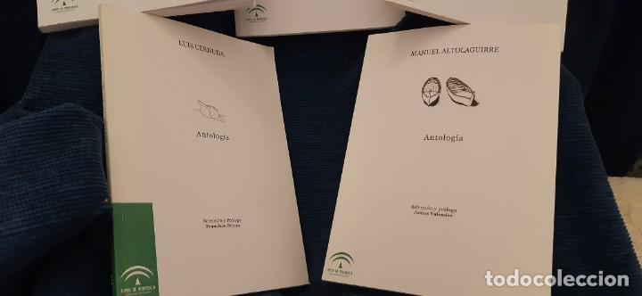 Libros antiguos: LOTE 5 LIBROS COLECCIÓN JUNTA ANDALUCÍA ANTOLOGÍAS GONGORA CERNUDA ALTOLAGUIIRE ZAMBRANO MUÑOZ ROJAS - Foto 3 - 194888847