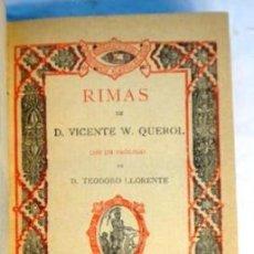 Libros antiguos: QUEROL, RIMAS, 1891. Lote 194962286