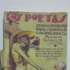 Libros antiguos: LOS POETAS - ZORRILLA, RUBEN DARIO, GABRIEL Y GALAN, JUAN R. JIMENEZ, Nº 31, AÑO 1929. Lote 195043960