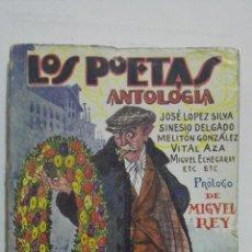 Libros antiguos: LOS POETAS - ANTOLOGIA, JOSE LOPEZ SILVA, SINESIO DELGADO, MELITON GONZALEZ, Nº 37, AÑO 1929. Lote 195045278