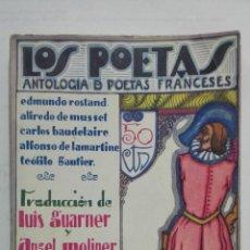 Libros antiguos: LOS POETAS - ANTOLOGIA DE POETAS FRANCESES, EDMUNDO ROSTAND, CARLOS BAUDELAIRE, Nº 68, AÑO 1929. Lote 195052363