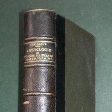Libros antiguos: GUILBEAUX, HENRY: ANTHOLOGIE DES LYRIQUES ALLEMANDS CONTEMPORAINS DEPUIS NIETZSCHE. 1913. Lote 195095922