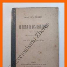 Libros antiguos: EL LIBRO DE LOS RECUERDOS. POESIAS LIRICAS - CARLOS VIEYRA DE ABREU. Lote 195473998