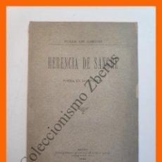 Libros antiguos: HERENCIA DE SANGRE - JULIA DE ASENSI. Lote 195488426