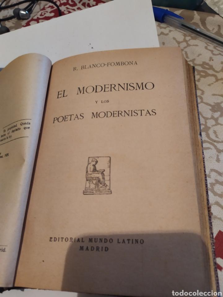EL MODERNISMO Y LOS POETAS MODERNISTAS1929. (Libros antiguos (hasta 1936), raros y curiosos - Literatura - Poesía)