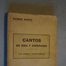 Libros antiguos: CANTOS DE VIDA Y ESPERANZA. LOS CISNES Y OTROS POEMAS. RUBEN DARIO.. Lote 197500837