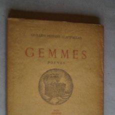 Libros antiguos: GEMMES. POEMES GUILLEM MITJANS.1948. Lote 197604073