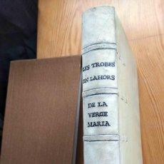 Libros antiguos: LES TROBES EN LAHORS DE LA VERGE MARIA.. Lote 198247832