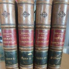 Libros antiguos: LAS POESIAS DE HORACIO, JAVIER DE BURGOS. 1844. 4 TOMOS, OBRAS COMPLETAS.. Lote 198787305