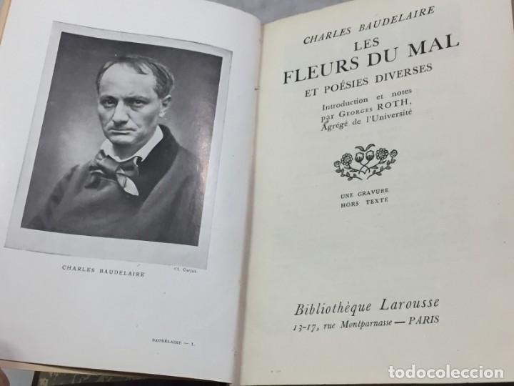 LES FLEURS DU MAL ET POÉSIES DIVERSES. INTRODUCTION ET NOTES PAR GEORGES ROTH. CAHRLES BAUDELAIRE (Libros antiguos (hasta 1936), raros y curiosos - Literatura - Poesía)