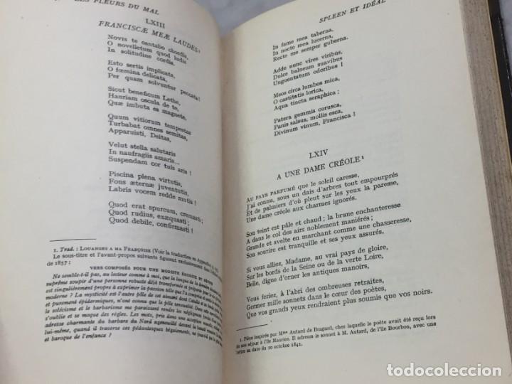 Libros antiguos: LES FLEURS DU MAL ET POÉSIES DIVERSES. Introduction et notes par Georges Roth. Cahrles Baudelaire - Foto 4 - 229622250