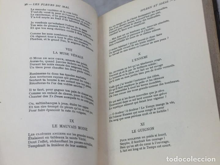 Libros antiguos: LES FLEURS DU MAL ET POÉSIES DIVERSES. Introduction et notes par Georges Roth. Cahrles Baudelaire - Foto 6 - 229622250