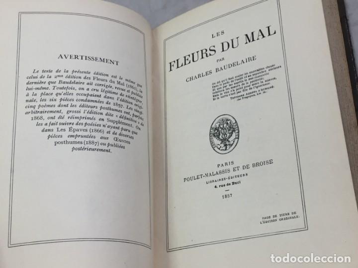 Libros antiguos: LES FLEURS DU MAL ET POÉSIES DIVERSES. Introduction et notes par Georges Roth. Cahrles Baudelaire - Foto 7 - 229622250