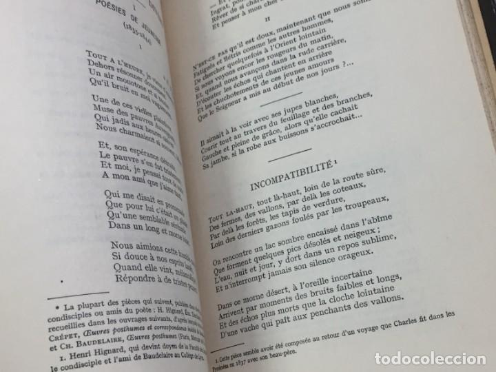 Libros antiguos: LES FLEURS DU MAL ET POÉSIES DIVERSES. Introduction et notes par Georges Roth. Cahrles Baudelaire - Foto 8 - 229622250