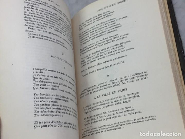 Libros antiguos: LES FLEURS DU MAL ET POÉSIES DIVERSES. Introduction et notes par Georges Roth. Cahrles Baudelaire - Foto 9 - 229622250