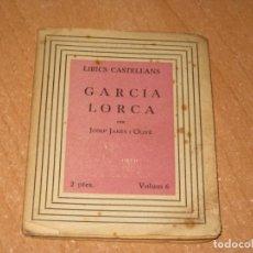 Libros antiguos: GARCIA LORCA. Lote 200861598