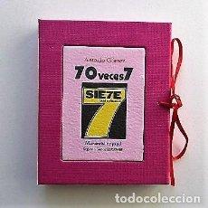 Libros antiguos: ANTONIO GÓMEZ (CUENCA, 1951) LIBRO DE ARTISTA, 70 VECES 7, POESÍA VISUAL. Lote 201338670