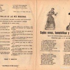 Libri antichi: PLIEGO CORDEL COPLAS NOVAS, HUMORISTICAS Y EPIGRAMATICAS. Nº 100. C. 1870. Lote 203790377