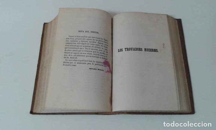 Libros antiguos: LOS TROBADORS NOUS BOFARULL 1858 PRIMERA EDICION - Foto 6 - 203944077