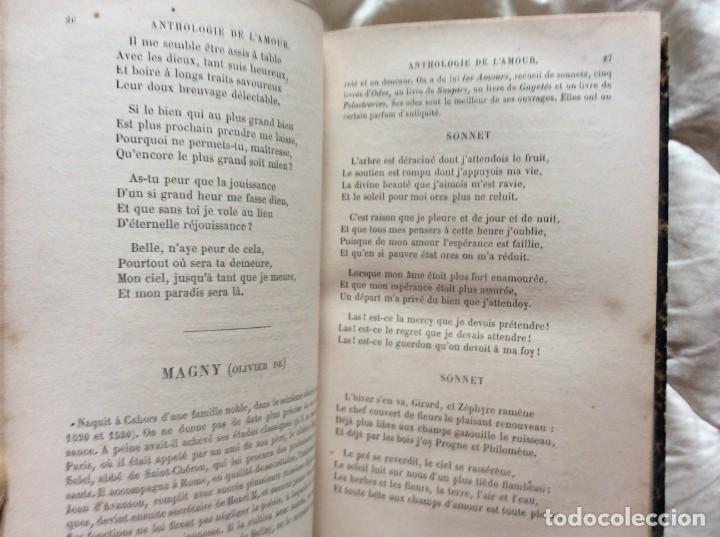 Libros antiguos: ANTOLOGÍA DEL AMOR - EXTRACTO DE POETAS FRANCESES - POR P. M. QUITARD, 1862. MUY ESCASO - Foto 6 - 204232278