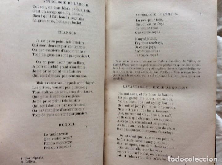 Libros antiguos: ANTOLOGÍA DEL AMOR - EXTRACTO DE POETAS FRANCESES - POR P. M. QUITARD, 1862. MUY ESCASO - Foto 8 - 204232278
