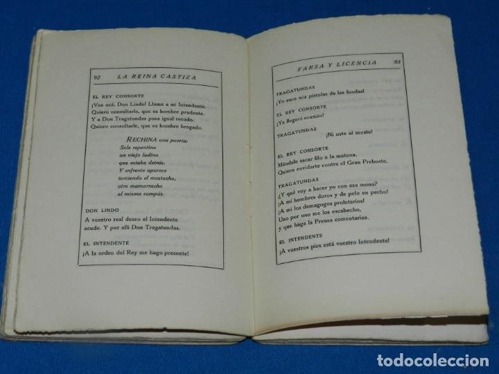 Libros antiguos: RAMON DEL VALLE-INCLAN - FARSA Y LICENCIA DE LA REINACASTIZA , 1 EDC, MADRID 1922 - Foto 4 - 204306003