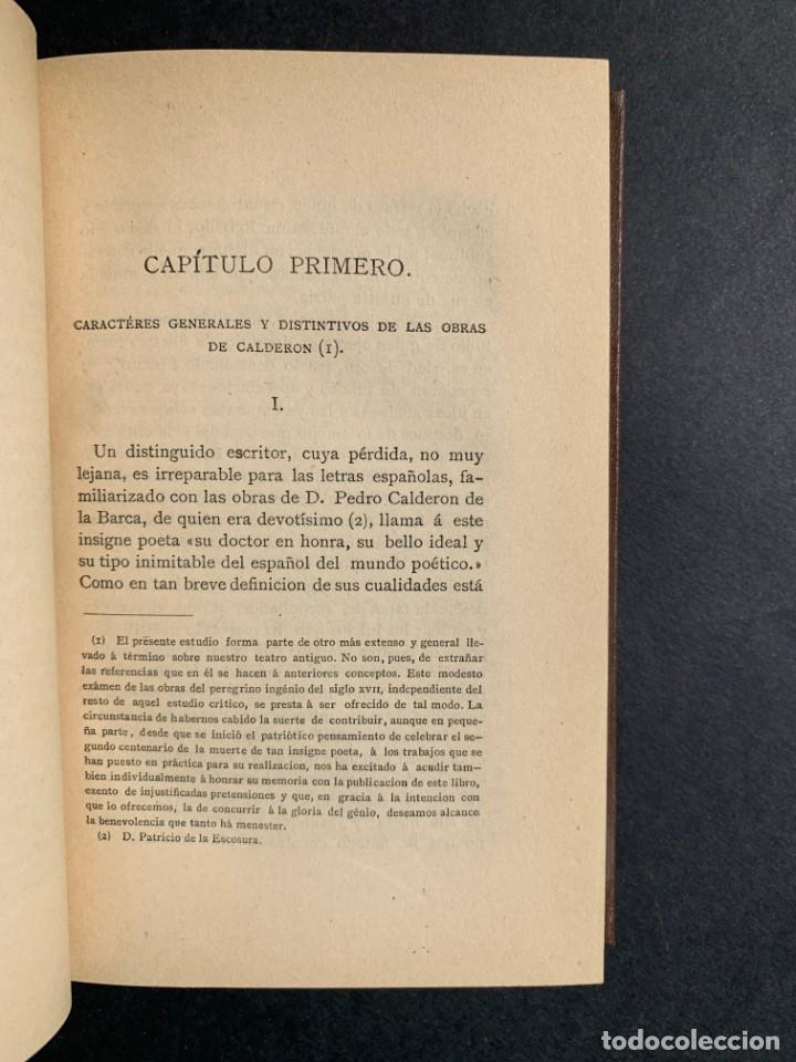 Libros antiguos: 1881 - Calderon de la Barca - Estudio de las obras de este insigne poeta - Ángel Lasso de la Vega - Foto 4 - 204441768