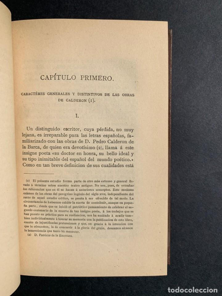 Libros antiguos: 1881 - Calderon de la Barca - Estudio de las obras de este insigne poeta - Ángel Lasso de la Vega - Foto 5 - 204441768