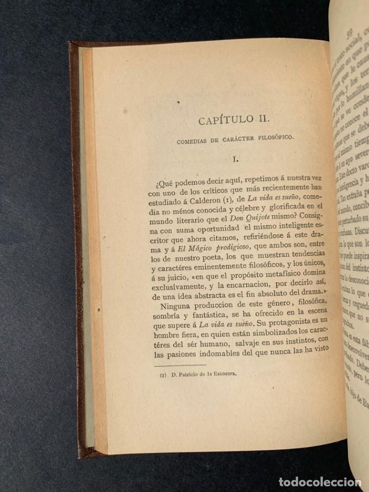 Libros antiguos: 1881 - Calderon de la Barca - Estudio de las obras de este insigne poeta - Ángel Lasso de la Vega - Foto 6 - 204441768