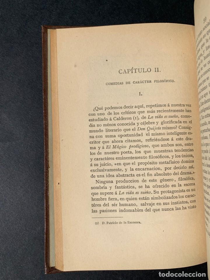 Libros antiguos: 1881 - Calderon de la Barca - Estudio de las obras de este insigne poeta - Ángel Lasso de la Vega - Foto 7 - 204441768