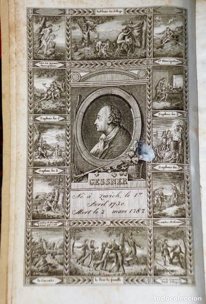 Libros antiguos: OEUVRES COMPLÈTES DE GESSNER. Un VOLUMEN CON 2 TOMOS - Foto 3 - 204492258