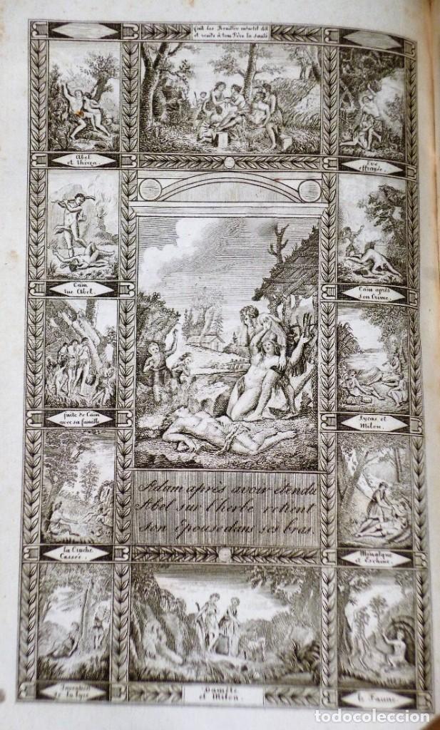 Libros antiguos: OEUVRES COMPLÈTES DE GESSNER. Un VOLUMEN CON 2 TOMOS - Foto 5 - 204492258