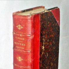 Libros antiguos: OEUVRES COMPLÈTES DE GESSNER. UN VOLUMEN CON 2 TOMOS. Lote 204492258