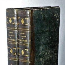 Libros antiguos: OEUVRES COMPLÈTES DE P.-J. DE BÉRANGER. 2 TOMOS. Lote 204505000