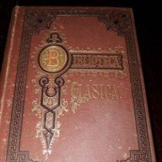 Libros antiguos: LIBRO 2031 BLIBIOTECA CLÁSICA POETAS LIRICOS GRIEGOS ROJAS HERMANOS 1884. Lote 204786675