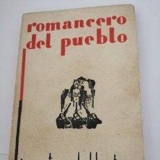 Libros antiguos: ROMANCERO DEL PUEBLO DE JOSÉ ANTONIO BALBONTÍN (JUAN DE LA LUZ).. Lote 204998817