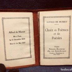 Libros antiguos: ALFRED DE MUSSET CHOIX POEMES ET POESIES NELSON PARIS PPIO S XX 9X6CMS. Lote 205244431