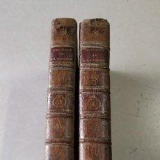 Libros antiguos: LUCRÈCE, DE LA NATURE DES CHOSES TRADUIT EN VERS PAR M. LE BLANC DE GUILLET - 2 TOMOS - AÑO 1788. Lote 205299961